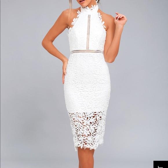 caedd59d9856b Lulu s divine destiny white lace midi dress - XL